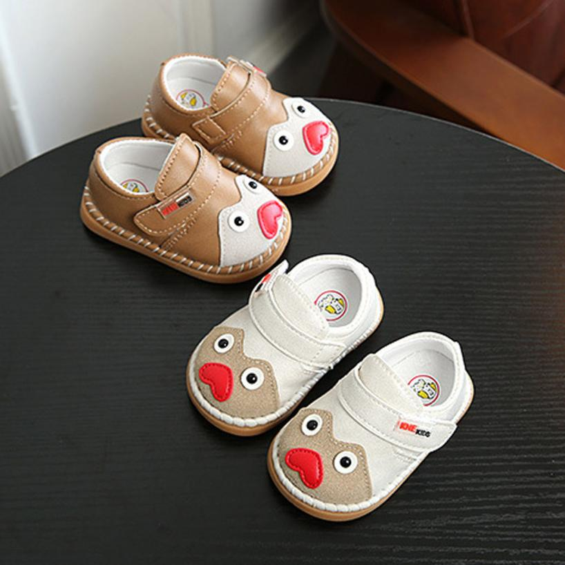 TELOTUNY 2018 baby shoes First walker Baby Fashion Sneaker Child Girls Boys Cartoon Casual Warm Print Anti-slip Shoes UK A6