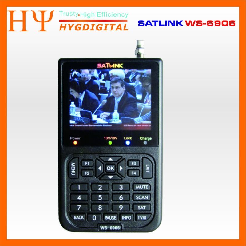 [Genuine] Satlink WS-6906 3.5 DVB-S FTA digital satellite meter satellite finder ws 6906 satlink ws6906 free shipping satlink ws 6906 3 5 lcd dvb s fta data digital satellite signal finder meter