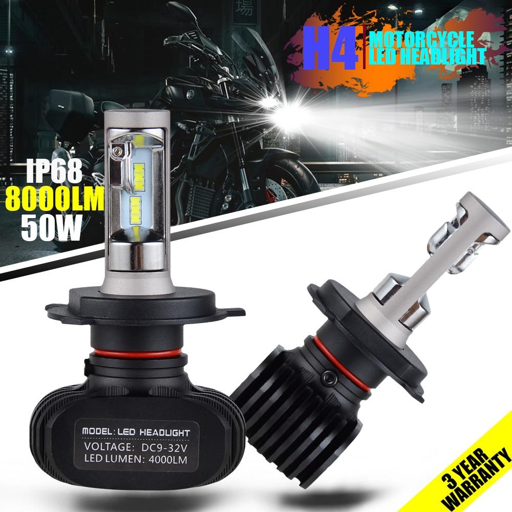 NICECNC 8000LM/Kit Automobile Led Light H4/9003/HB2 9004 9007/HB5 9008 Hi Lo Beam Auto Car Headlight Bulb Car Styling Headlamp