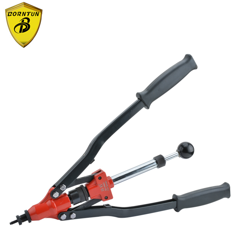 Borntun Manual Nut Riveter Pulling Nuts M4 M5 M6 M8 M10 Handheld Industrial Rivets Puller Pliers Gun Rivet Pistol Riveting Tools