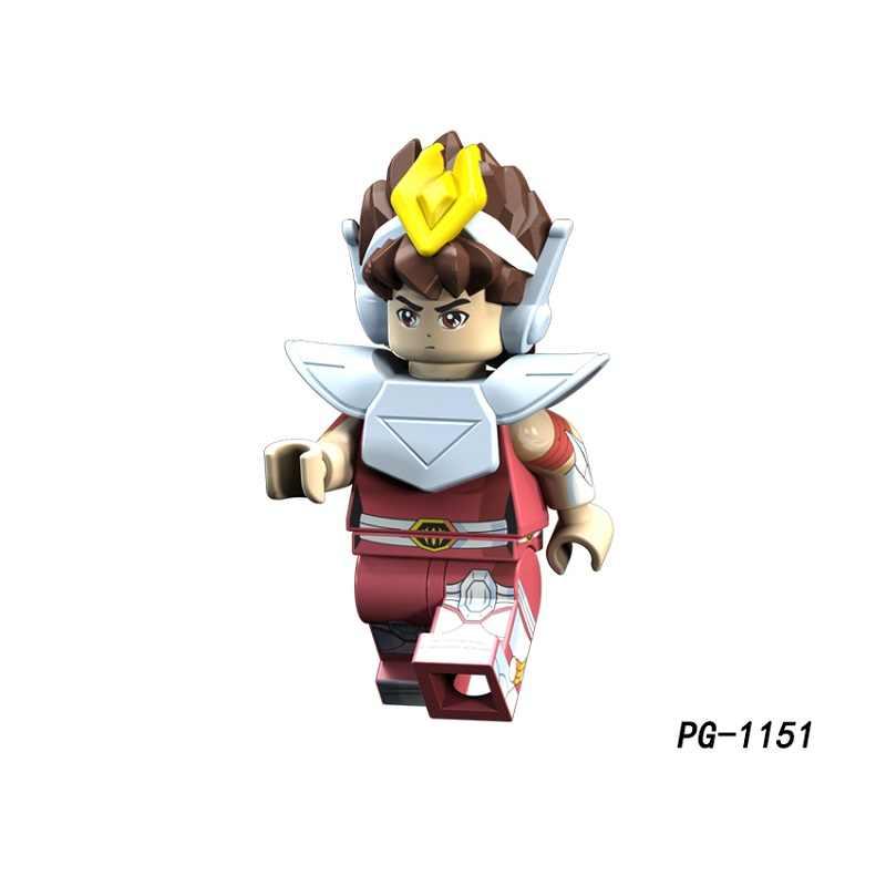 シングル販売闘士星矢アテナ紫龍氷河氷河 Tutankhamu アニメ聖闘士星矢スーパーヒーローアクションフィギュアモデルビルディングブロックのおもちゃ