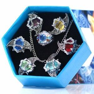 Аниме Косплей кольца Крылья Vongola для мужчин wo мужской подарок для детей 7 шт./компл. модное Ювелирное кольцо kateкё Hitman Reborn Sawada Tsunayoshi