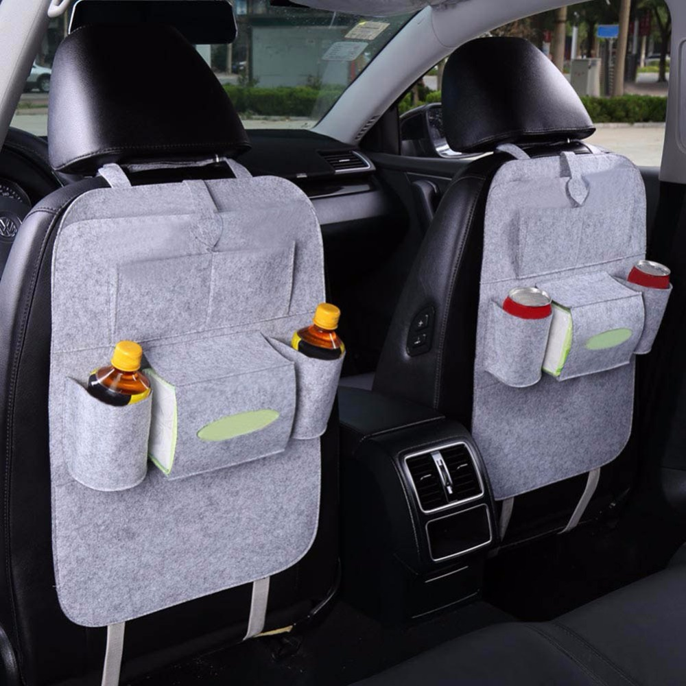 Car Use Seat Back Organizer Storage Bag Drink Food Multifunction Organizador Storage Bags Non-Woven Fabric Eco-Friendly