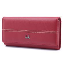 Genuine Leather Women's Wallets High Capacity Long