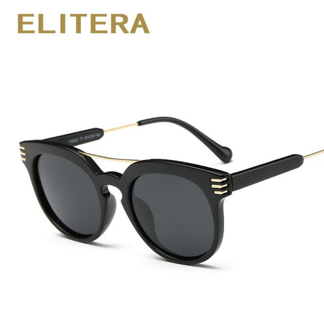 ELITERA Моде Ретро Круглые Очки Мужчины Женщины Дизайнер Очки Металлический Каркас UV400 Солнцезащитные Очки óculos де золь lunette de soleil