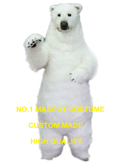 realistic polar bear mascot costume adult size high quality fur white polar bear theme anime cosplay costumes carnival 2969