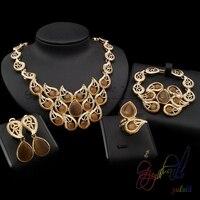 Free Shipping Saudi Arabic Jewelry Set 18k Gold Filed Jewelry Set Jewelry Set For Woman
