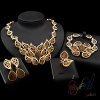free shipping!! saudi arabic jewellery sets/ gold color jewelry set for woman