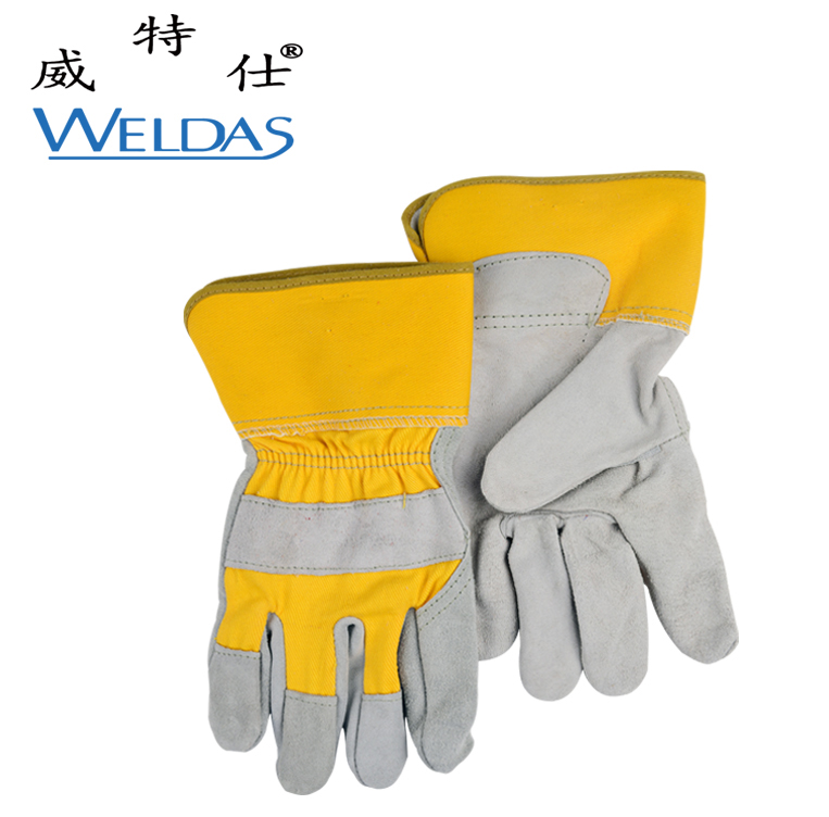 cattle gloves leather tool work gloves cut-resistant wear-resistant split cow leather safety glove anti cut safety glove hppe cut resistant work glove