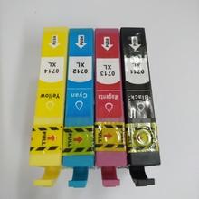 Vilaxh For epson T0711-T0714 T0712 compatible ink cartridge for Stylus SX515W DX7400 SX110 SX215 SX218 SX400 printer