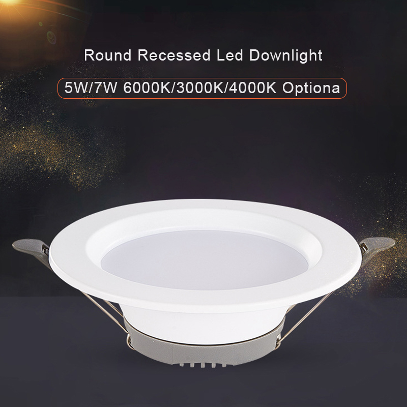 5W 7W <font><b>LED</b></font> <font><b>Downlight</b></font> 6000K 3000K 4000K Warm white Optional Embedded Down lights Indoor <font><b>Leds</b></font> Ceiling Lamp A image