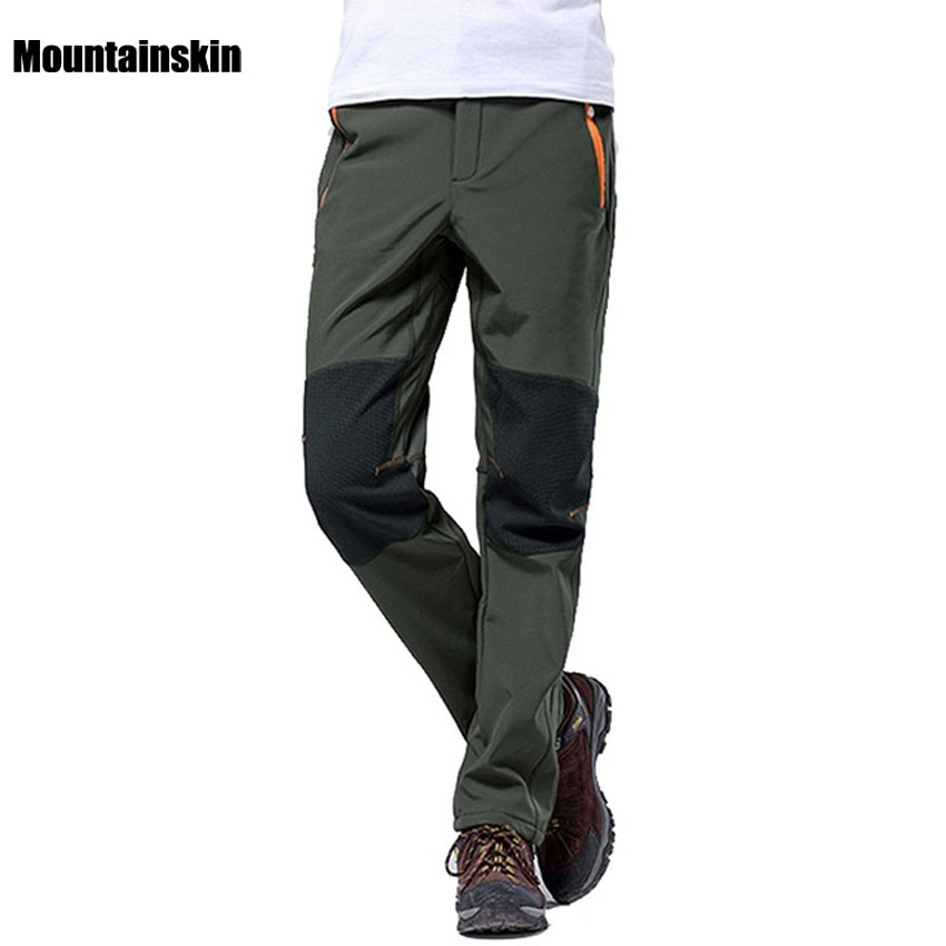 Mountainskin 4XL Men's Winter Pants Outdoor Sports Softshell Fleece Trousers Hiking Camping Trekking Ski Waterproof Pants VA042
