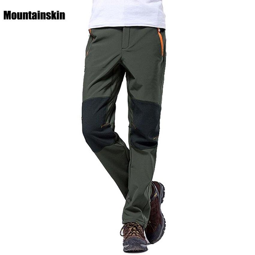 Prix pour Mountainskin 4XL Hiver Pantalons pour hommes En Plein Air Sport Softshell Polaire Pantalon de Randonnée Camping Trekking Ski Pantalons Imperméables VA042