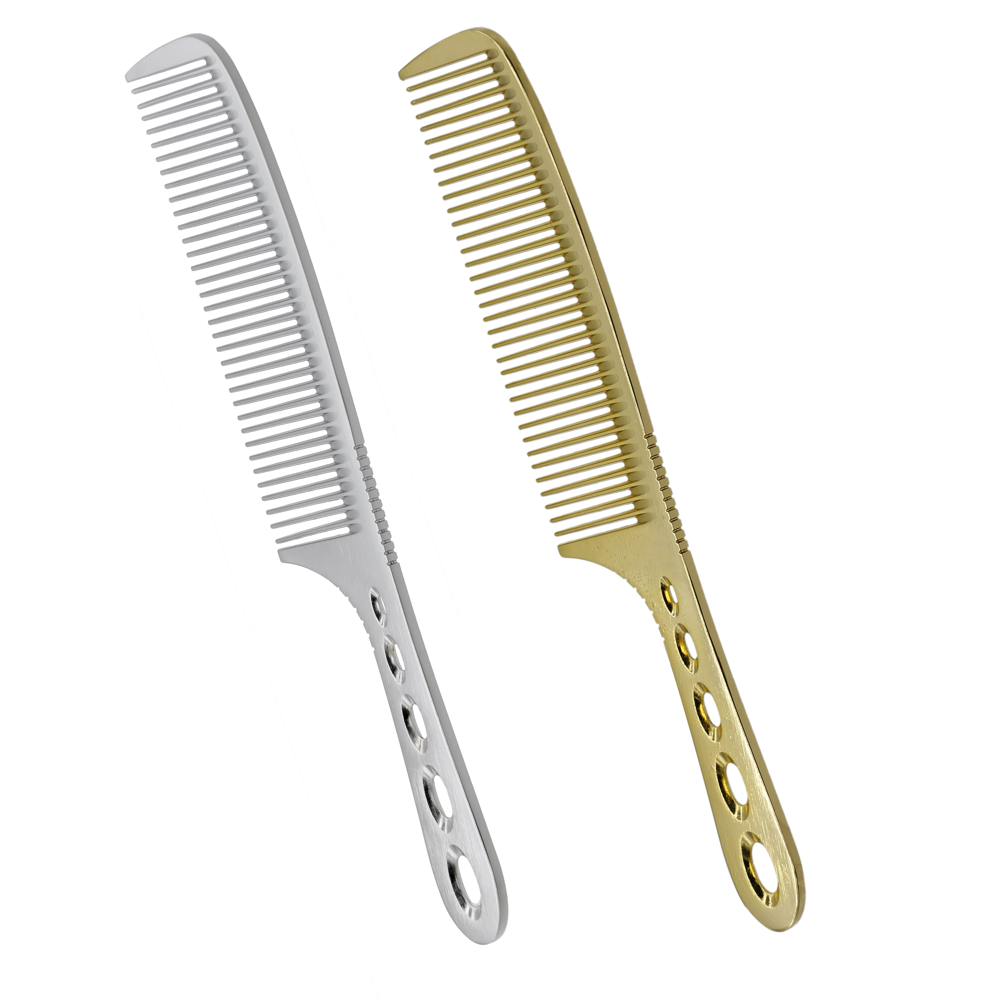 1 Piece High Quality Titanium Men Haircut Comb Durable Metal Alloy 19 cm Hairdressing Men Comb Barber Styling Tools Anti Static