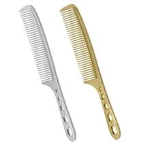 1 τεμάχιο Υψηλής ποιότητας τιτανίου Αντρικά μαλλιά μαλλιά χτενισμένα ανθεκτικά μεταλλικά κράματα 19 cm Κομμωτική ανδρών κούρεμα Barber εργαλεία styling Anti Static