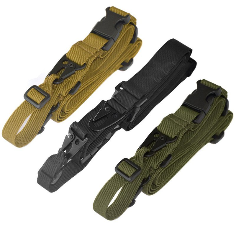 Nylon Adjustable Multi function Tactical single point Bungee Airsoft Sling Strap Hunting Supplies 3 Color