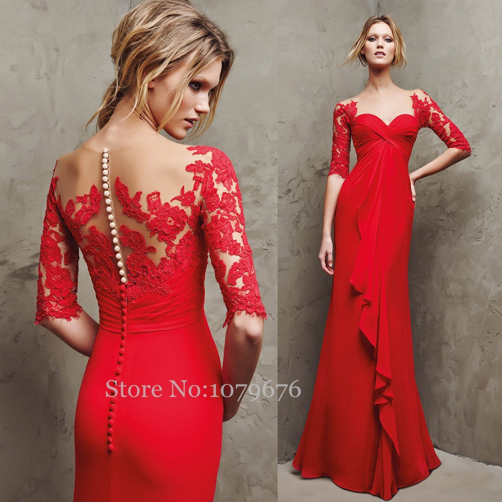 Plus Size Empire Women Evening Dress Designer 2015 Red ...
