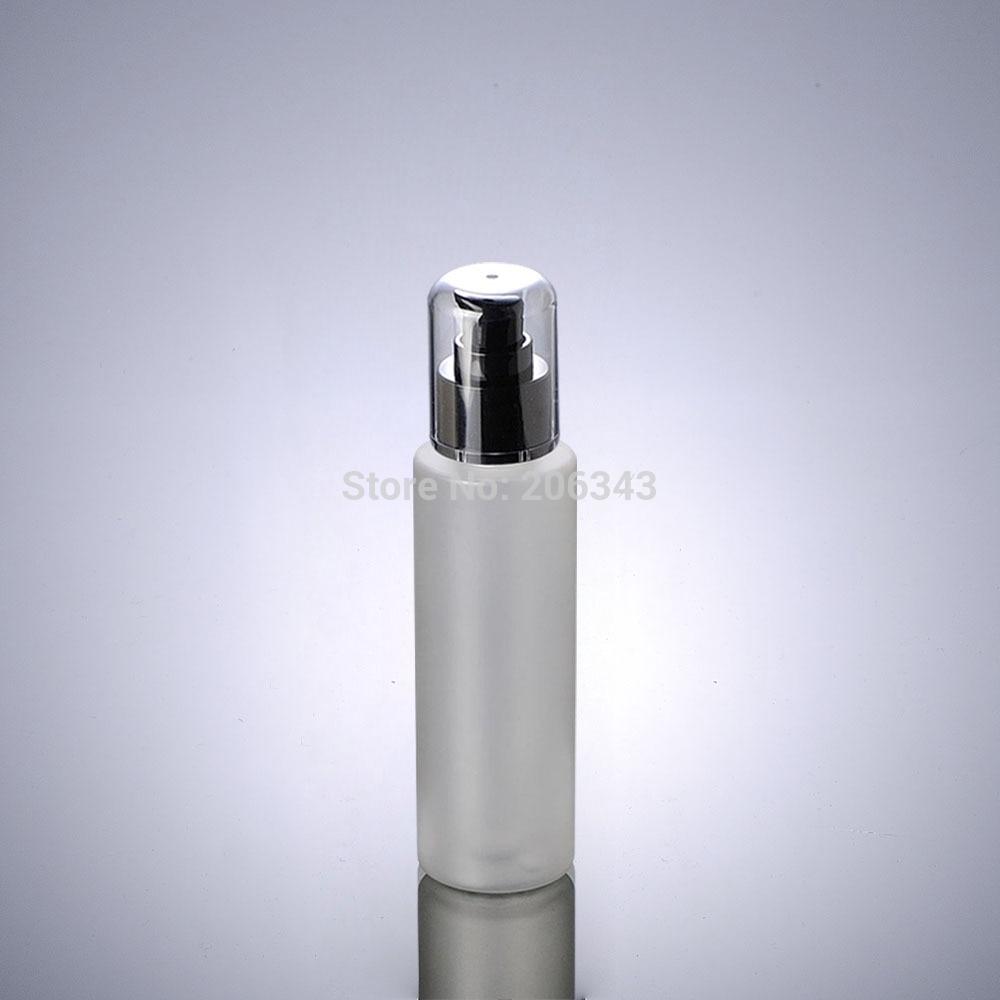 Матовый пластиковый ПЭТ флакон 100 мл, черный пресс-насос, лосьон/эмульсия/Тональная основа/сывороточная жидкость/косметическая упаковка дл...