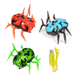 Rechargeable Infrared Sensor Tag Beetle For Laser Guns Toys Spider Moving Robot Space Blaster Training Bot USB Charging Cable(China)