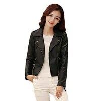 Liva Girl Autumn Women S Fashion Jackets Plus Size Long Sleeve Solid Color Slim PU Jackets