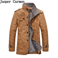 Free Shipping Winter PU Leather Jacket ,Parka Men,Warm Windbreak Waterproof  Casual Male Leather Coat Plus Size L-4XL 108