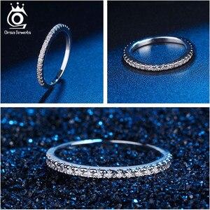 Image 5 - ORSA mücevher 925 gümüş parmak yüzük kadınlar için istiflenebilir maç düğün Band bildirimi gümüş 925 takı kızlar için SR60