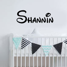 Personalised Script Bespoke Name Wall Sticker Decal Kids Bedroom Vinyl Home Decor Adhesive Custom Made 3N36(China)