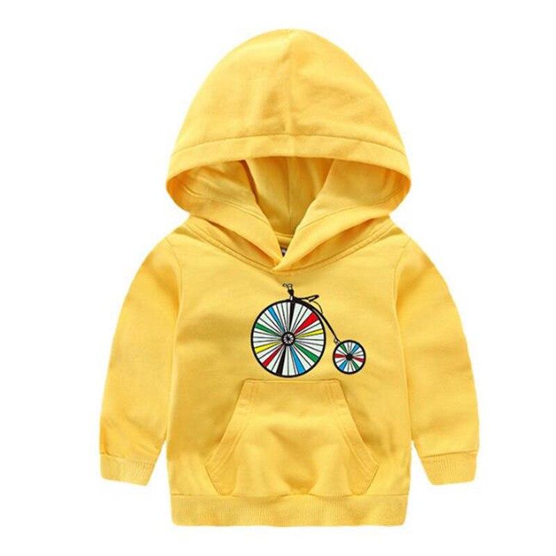 Boys Sweatshirts Outdoor-Jacket Hoodies Kids Autumn with Cap Hat Bike Picture Coat Spring