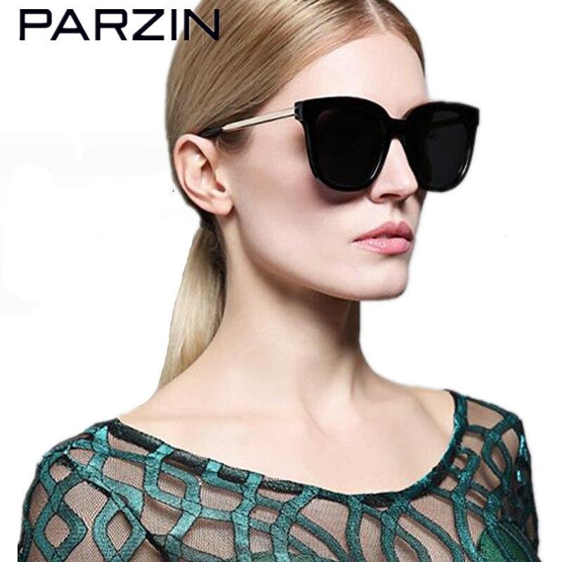 PARZIN Tr 90 мужские солнцезащитные очки винтажные Поляризованные солнцезащитные очки для женщин для влюбленных дизайн солнцезащитные очки чер...