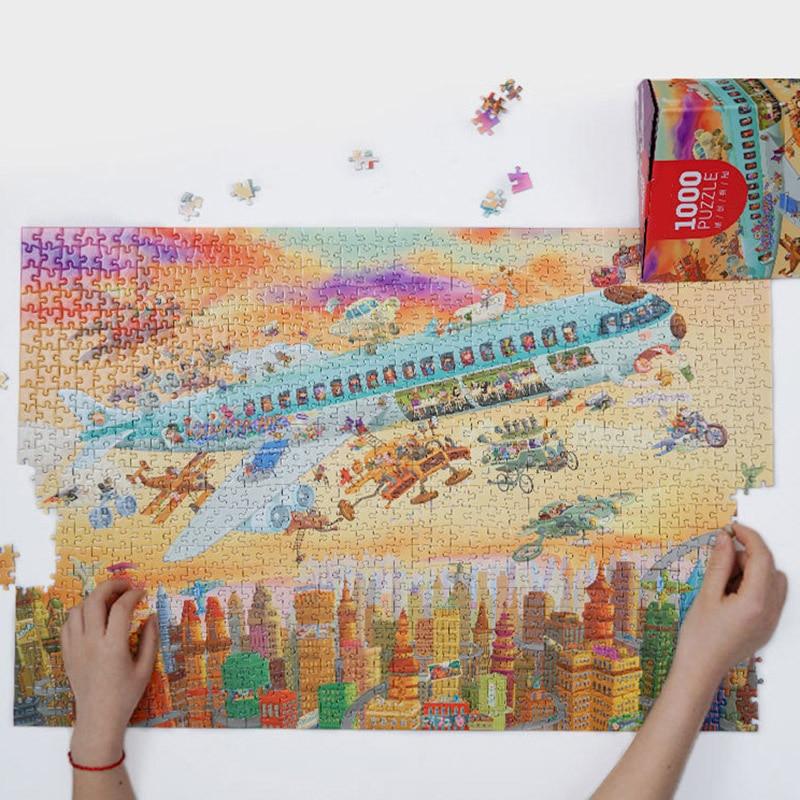 2019 Hot Sale Jigsaw Puzzle 1000 Pieces Adult  Kids Landscape Puzzles Educational Toys For Children Adult Puzzles Christmas Gift