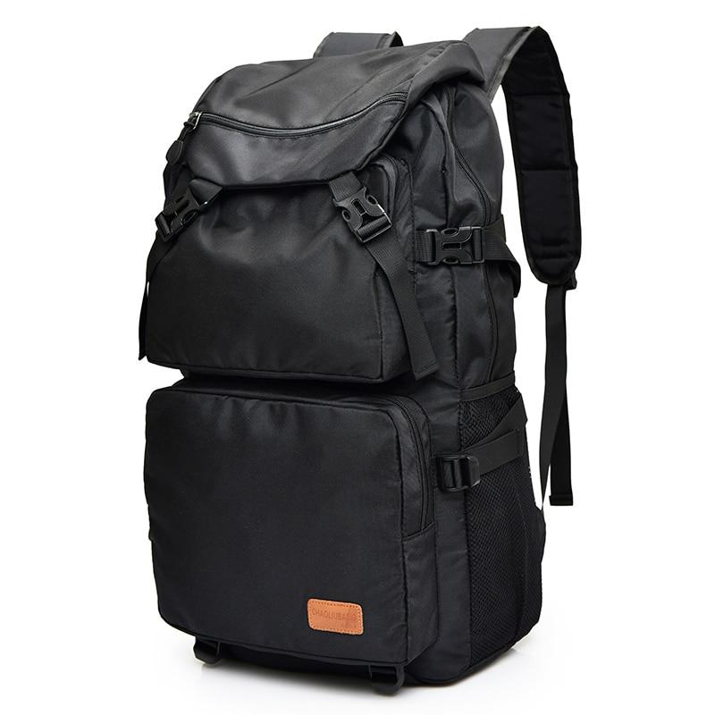 Large Capacity Casual Men Travel Backpack Fashion Waterproof Nylon 15 Inch Laptop Backpack Men School Bags For Boy Male Rucksack vk men pu leather 14 inch laptop backpack travel bags rucksack qaulity large capacity women school teenagers backpacks 140029