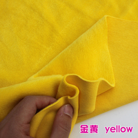 Yellow Knitted Cotton Fabric Flannelet Fabric Span Velour Thermal Underwear Hoodies Sold By The Yard Free