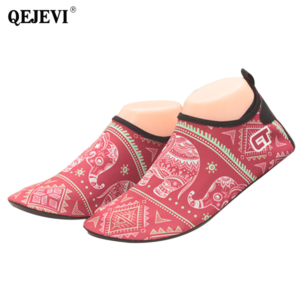 2018 QEJEVI Barefoot Water Skin Shoes Outdoor Upstream Aqua Socks Shoes Beach Pool Swimming Surf Diving Yoga Water Sneaker Aqua
