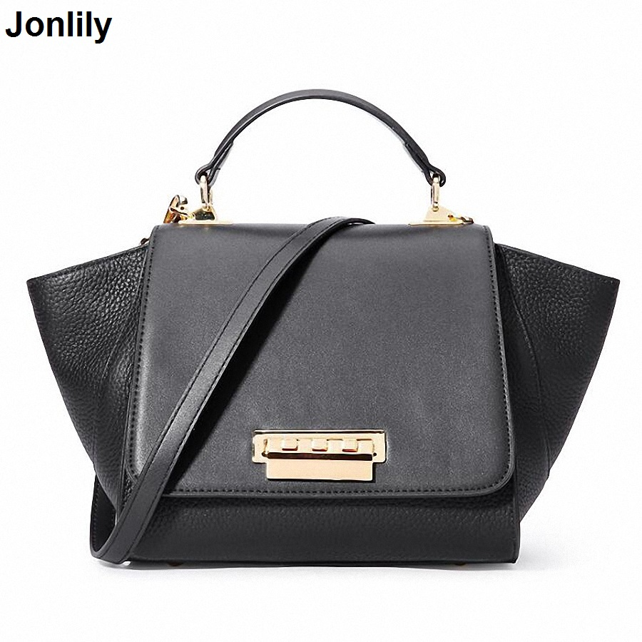 Real Cow Leather Ladies HandBags Women Genuine Leather bag Totes Messenger Bags High Quality Designer Luxury Trapeze Bag SLI-403 100% genuine leather women bags luxury serpentine real leather women handbag new fashion messenger shoulder bag female totes 3