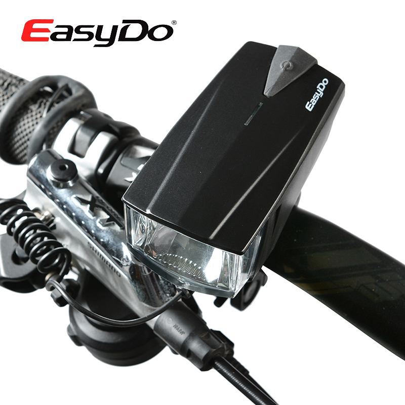 EASYDO Cycling Ride Front LED Waterproof Headlight Light Lamp MTB Bike Bicycle Headlamp With Bell Horn Flashlight Power Charger y scoo скейтборд big fishskateboard 27