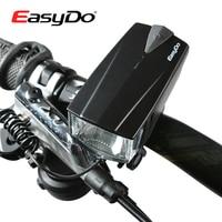 EASYDO Jazdy Na Rowerze Przednia Lampa Reflektor Światła LED Wodoodporna MTB Rower Czołówka Z Bell Horn Ładowarka Zasilania Latarki