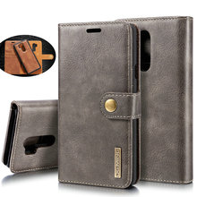 For LG G7 ThinQ Genuine Leather Case Detachable Wallet Case on For LG G7 ThinQ V30 V30+ Flip Cases For LG V30 PLUS Etui Bags