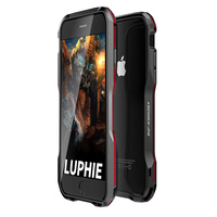Luphie Dual Color 3D Metal Bumper Cover For Apple Iphone 8 8x Cases Luxury Aluminum Frame