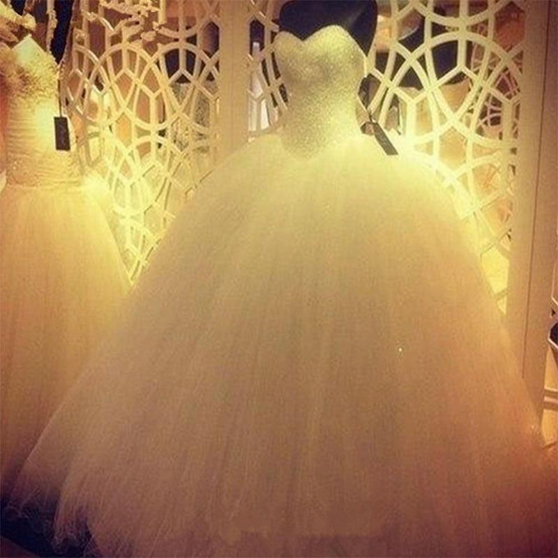 Fansmile 2020 Robe De Mariage Princess Bling Bling Luxury Crystals White Ball Gown Wedding Dress Vestido De Noiva FSM-563F