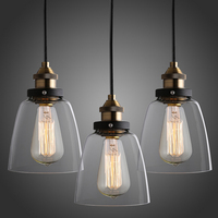 Pendant Light Russia Vintage Glass Lamp Dinning Room Light Retro Industrial Glass Hanglamp For Home Bar