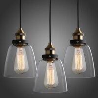 Pendant Light Russia Vintage Glass Lamp Dinning Room Light Retro Industrial Glass Hanglamp For Home Bar