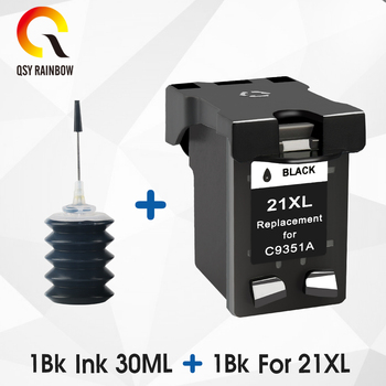 QSYRAINBOW replacement 21xl  ink cartridge For HP 21  for HP 21xL PSC 1410 All-in-One printer,PSC 1417 All-in-One printer hp envy 120 e all in one inkjet printer copier sc