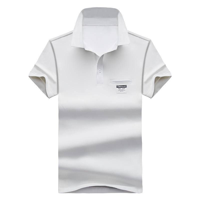 Mens Polo Shirt Summer Style Men Business Casual Solid Color Short Sleeve Polo Shirt Slim Cotton Polo Shirt Men Fake Pocket 25