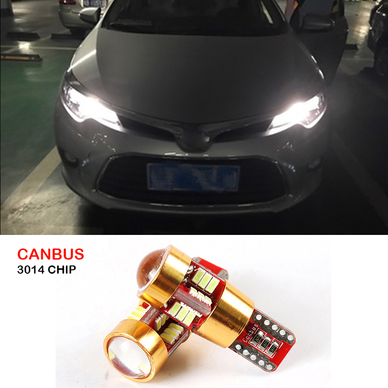 For Toyota Corolla Avensis C-hr Auris RAV4 Yaris Hilux Prius Verso Prado Celica Canbus T10 W5W LED Wedge Parking Clearance Light toyota celica модели 2wd