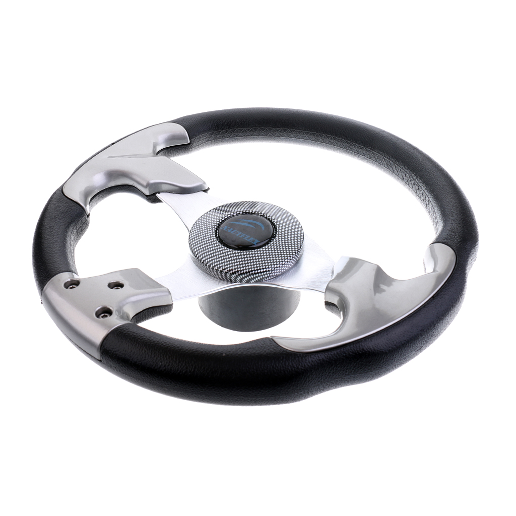 Deluxe 12.4''/31.5cm Marine Yacht Pontoon Boat Steering Wheel 3 Spoke Sports Wheel Commonly Used On Most Marine Boats(China)