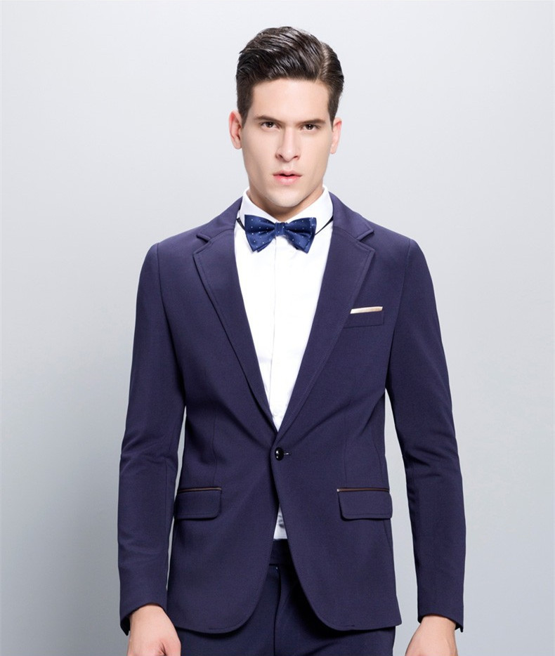 Latest Designs Wedding Suits Navy Blue Men Suits Blazer Formal Custom Bridegroom Terno Masculino 2 Pieces Jacket+Pants X