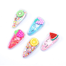 Childrens Cute Hairpin Fruit Pattern Multicolor Snap Fashion Popular Beautiful Green Hair Accessories