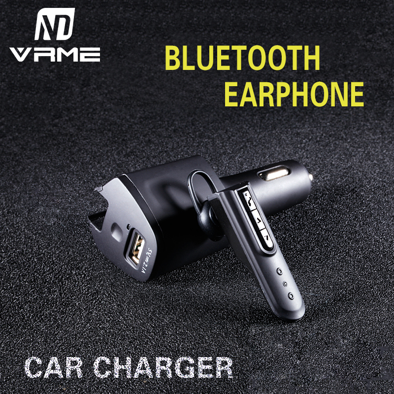 Wireless Bluetooth Headset In-ear Earphone with Car Charger Powered Usb Car Charger Headphone Earphone Car Adapter Charger remax rb t11 2in1 mini bluetooth headphone usb car charger dock wireless car headset bluetooth earphone for iphone 7 6s android