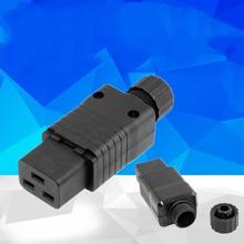 2PCS IEC 320 C19 AC Socket,C19 Female Socket,IEC C19 Plug,16A 250V Plug Socket, 2pcs plug