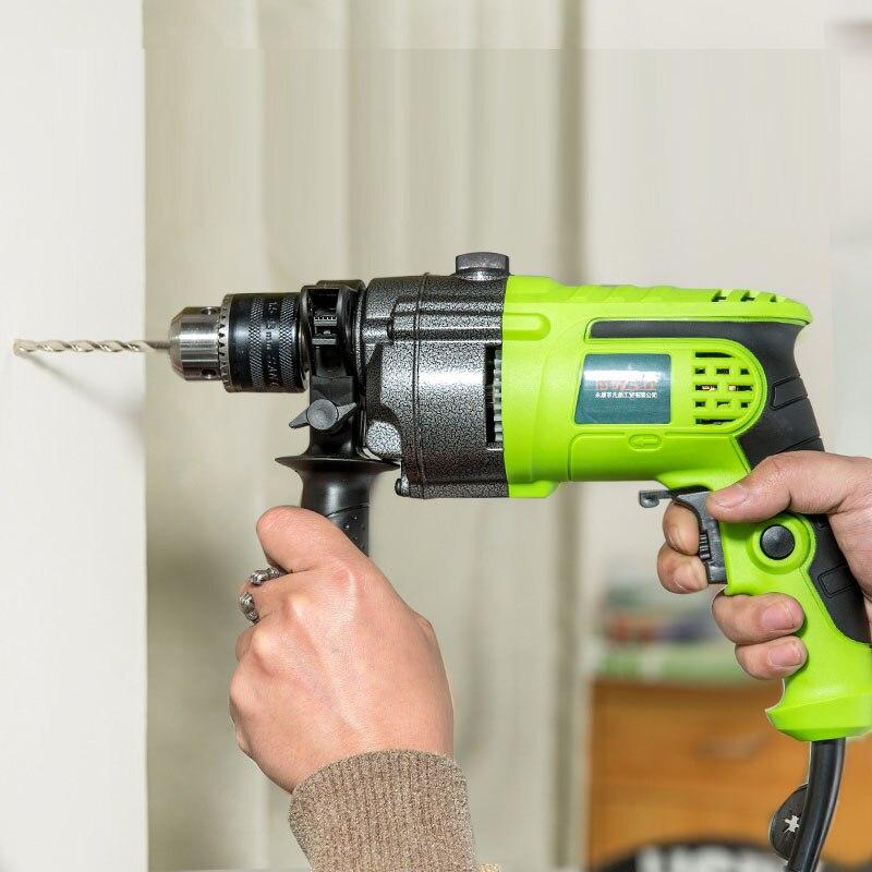Mini pistolet perceuse multi-fonction électrique pierre marteau rotatif mur Impact perceuse bois perceuse